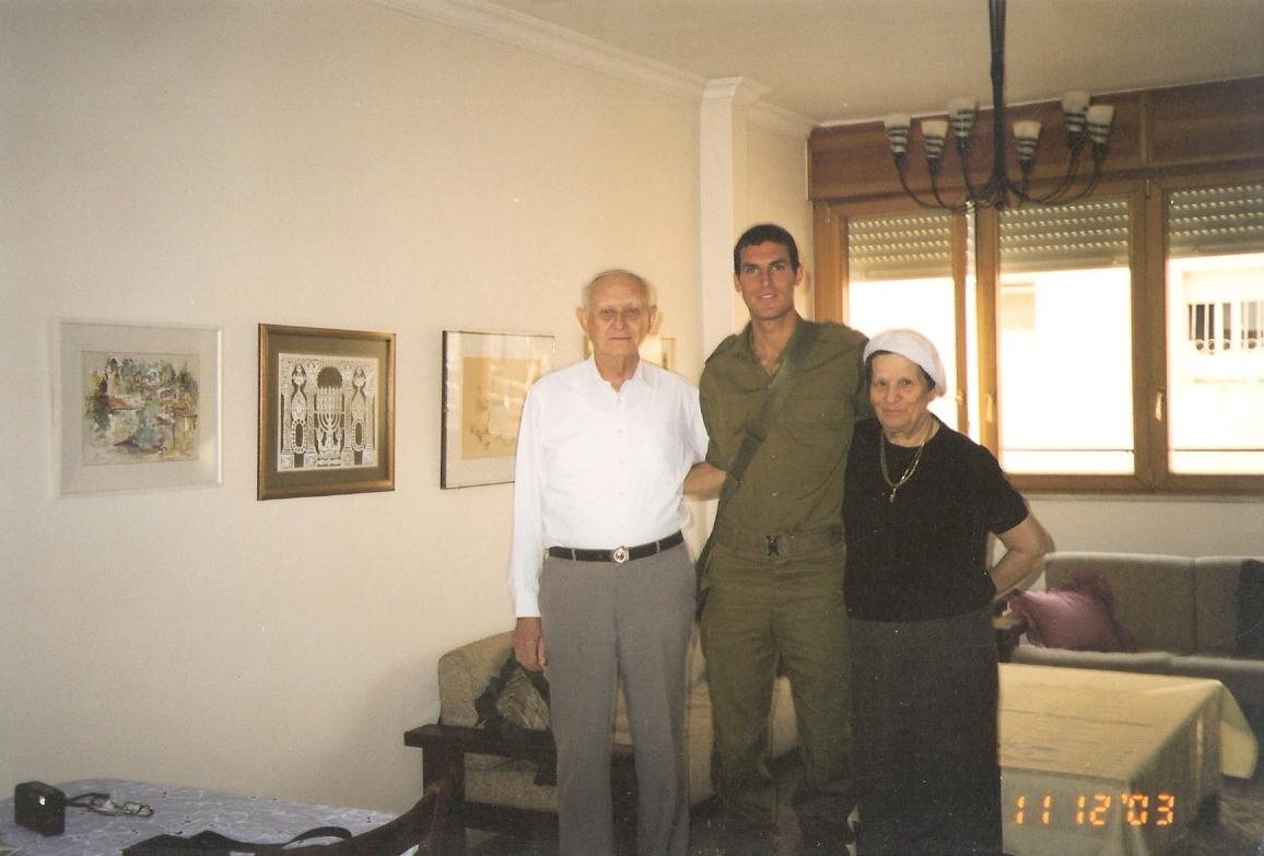 שלמה עם סבא וסבתא קרויזר