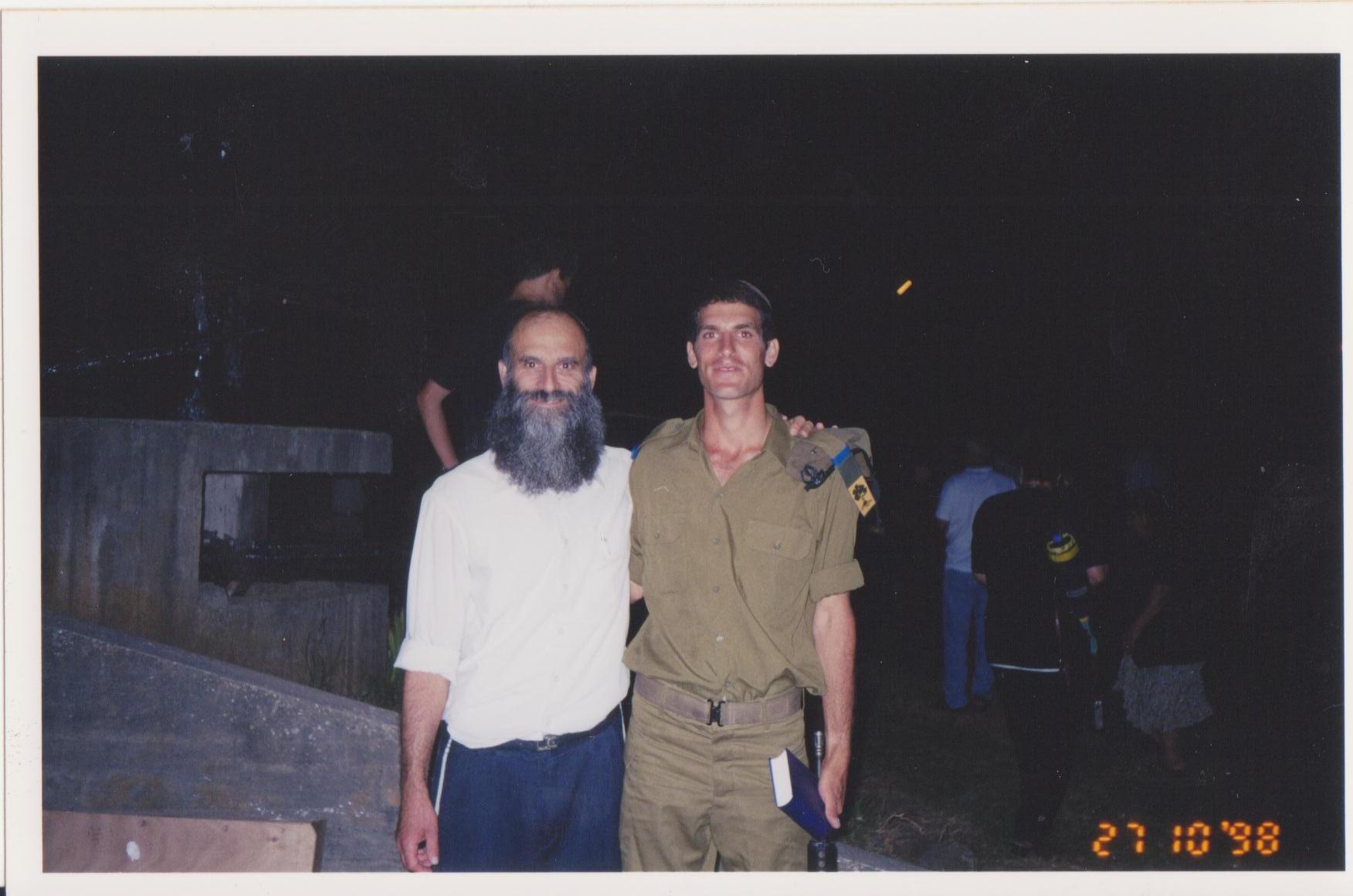 בתום מסע כומתה עם אבא בצומת גולני