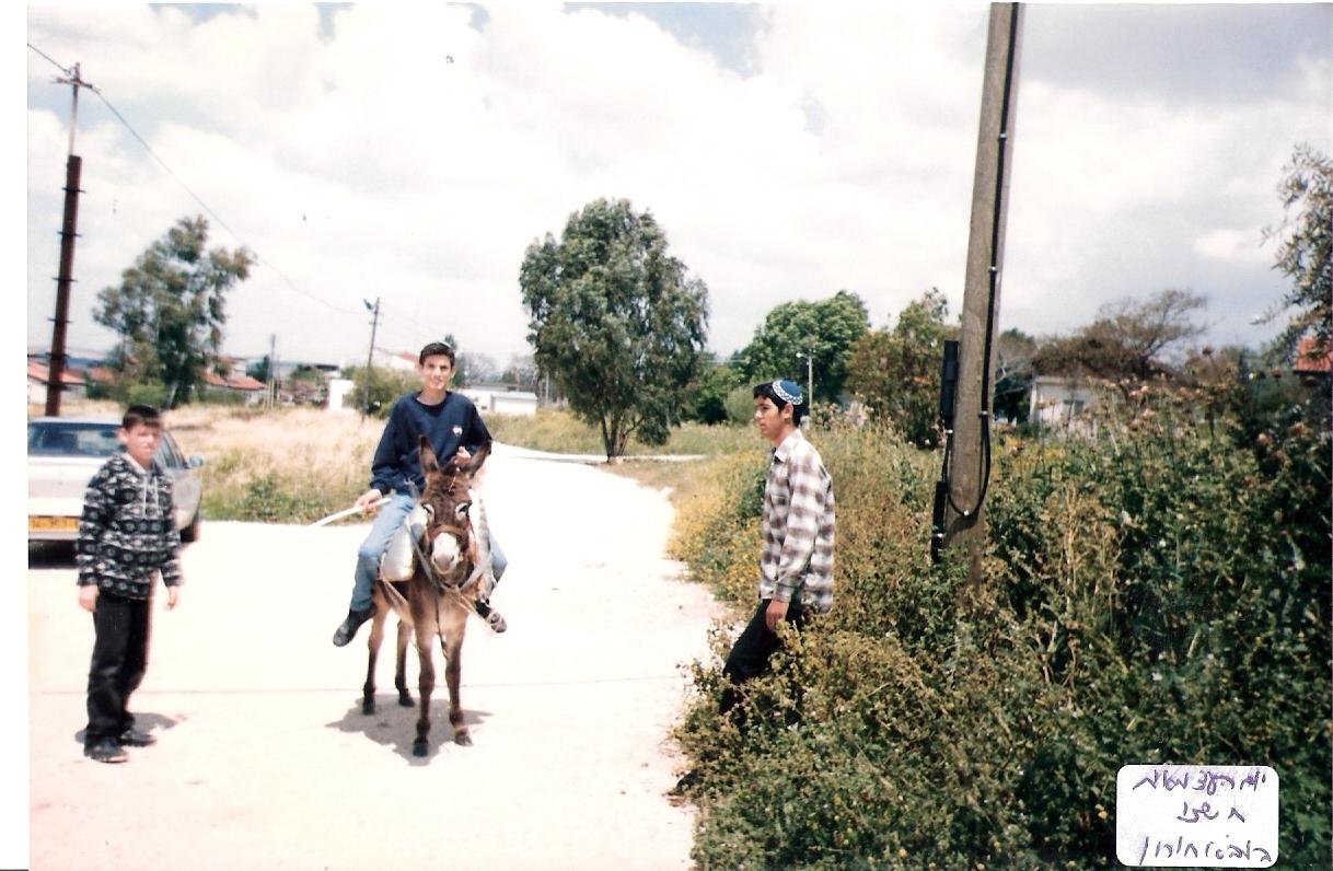 יום העצמאות תשנו שלמה רוכב על החמור עם קובי ניימן