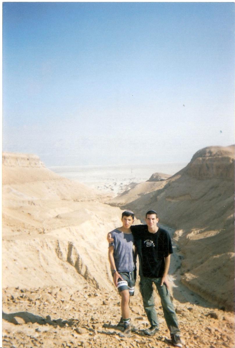 שלמה ושלמה הכהן בטיול בנחל משמר