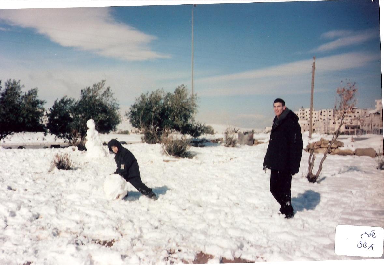 חורף תשס שלמה וישי בשלג בירושלים