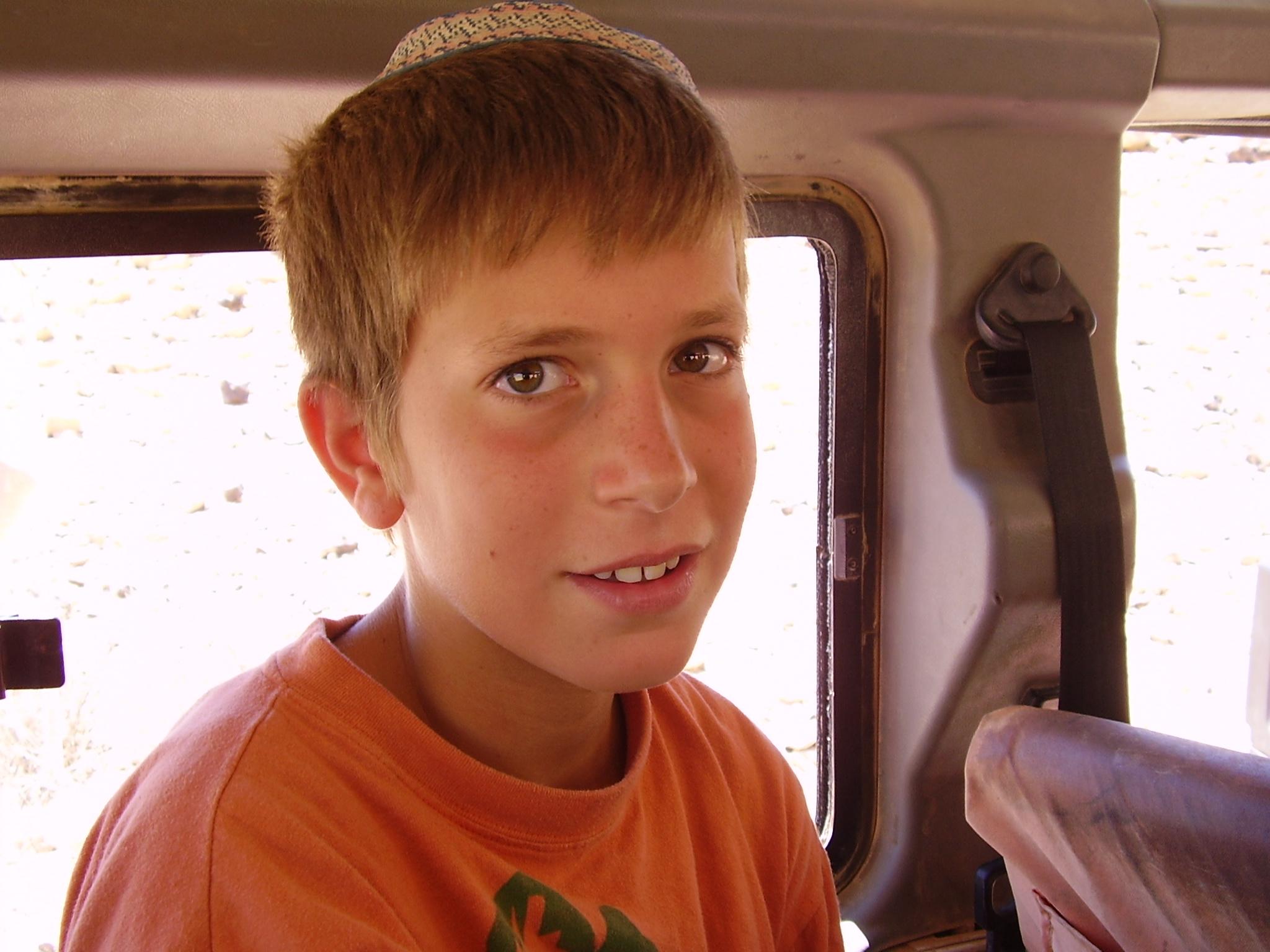 קיץ תשסה ישי בן 10 בטיול גיפים במצפה רמון